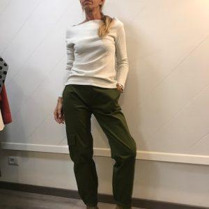 Pantalone Cargo verde militare