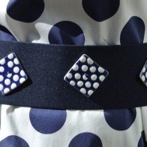 Cintura bottoni blu
